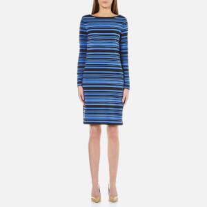 MICHAEL MICHAEL KORS Women's Adrennais Long Sleeve Boat Neck Dress - Oxford Blue