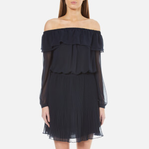 MICHAEL MICHAEL KORS Women's Off The Shoulder Pleat Dress - New Navy
