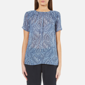MICHAEL MICHAEL KORS Women's Textured Devonshire Top - Monterey Blue