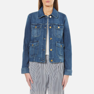 MICHAEL MICHAEL KORS Women's Cargo Pocket Jacket - Vintage Blue Wash