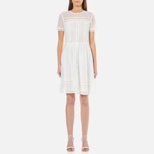 MICHAEL MICHAEL KORS Women's Eyelet Mix Short Sleeve Dress - White