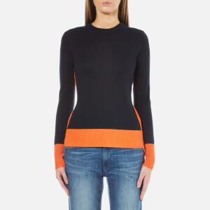 MICHAEL MICHAEL KORS Women's Contrast Colour Rib Sweatshirt - Poppy