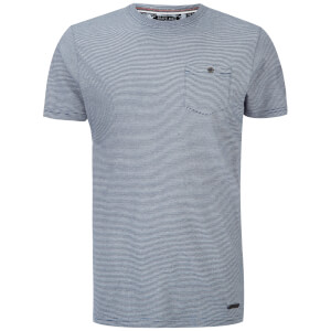 Brave Soul Men's Miller Stripe T-Shirt - Denim/Ecru