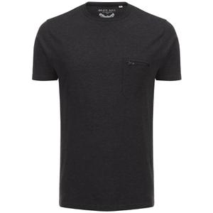T-Shirt Homme Faustian Zip Brave Soul -Noir Charbon