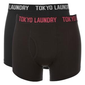 Lot de 2 Boxers Pellipar Tokyo Laundry - Noir / Rouge / Gris