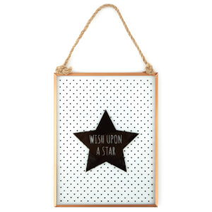 Slogan Glass Frame - Wish Upon a Star