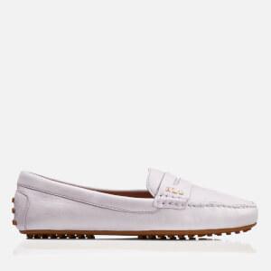 Lauren Ralph Lauren Women's Belen Soft Leather RL Loafers - Chalk Grey