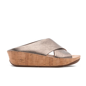 FitFlop Women's Kys Leather Slide Sandals - Bronze