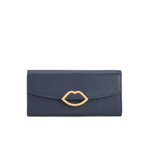 Lulu Guinness Women's Trisha Grainy Leather Purse - Navy