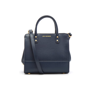 Lulu Guinness Women's Mini Daphne Textured Leather Square Cross Body Bag - Navy