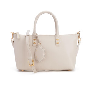 Lulu Guinness Women's Frances Small Grainy Leather Tote Bag - Porcelain