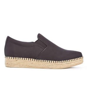 DKNY Women's Trey Pointy Slip On Espadrilles - Black