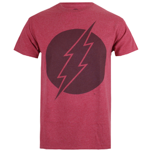 DC Comics Vintage Flash Heren T-Shirt - Heather Cardinal