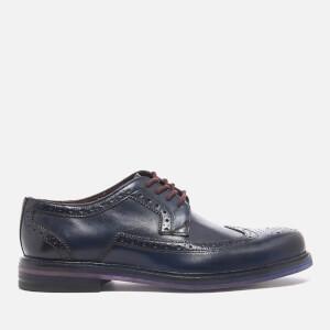 Ted Baker Men's Ttanum 3 Burnished Leather Brogues - Dark Blue