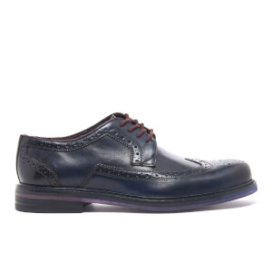 Ted Baker Men's Ttanum 3 Burnished Leather Brogues - Dark Blue