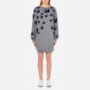 McQ Alexander McQueen Women's Classic Swallow Sweatshirt Dress - Stone Melange