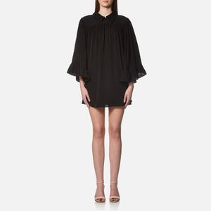 McQ Alexander McQueen Women's Flared Collar Dress - Black