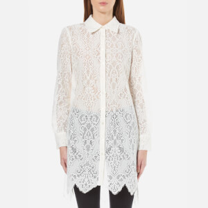 McQ Alexander McQueen Women's Tunic Lace Shirt Dress - Ivory