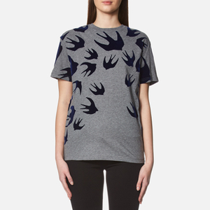 McQ Alexander McQueen Women's Classic Swallow T-Shirt - Stone Melange