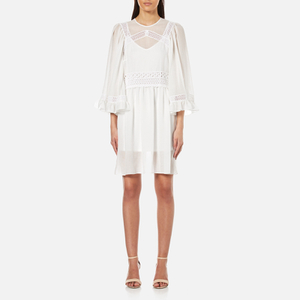 McQ Alexander McQueen Women's Volume Sleeve Dress with Slip - Ivory