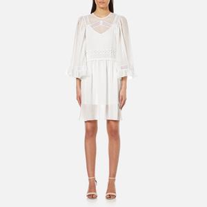 McQ Alexander McQueen Women's Volume Sleeve Dress with Slip - Ivory