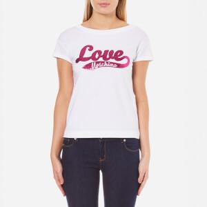Love Moschino Women's Love Logo T-Shirt - Optical White