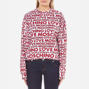 Love Moschino Women's Multi Logo Sweatshirt - Macrologo/White