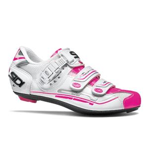 Sidi Genius 7 Women's Cycling Shoes - White/Pink Fluro