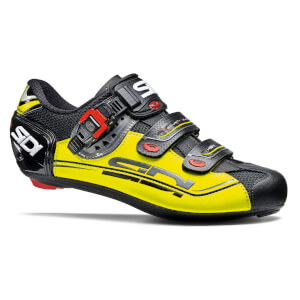 Sidi Genius 7 Mega Road Shoes - Black/Yellow Fluo/Black