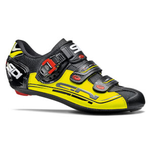 Sidi Genius 7 Road Shoes - Black/Yellow Fluo/Black