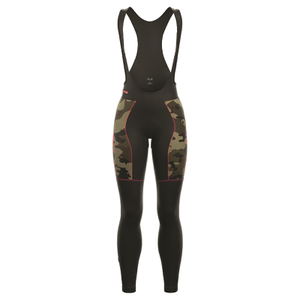 Alé Women's PRR Roubaix Camo Bib Tights - Black/Red