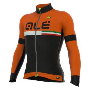 Alé PRR Tirreno Dolomiti Long Sleeve Jersey - Black/Orange