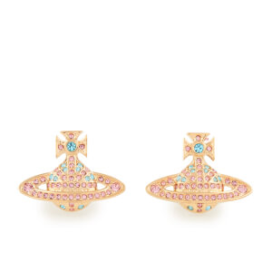 Vivienne Westwood Women's Jack Bas Relief Earrings - Aquamarine/Light Rose