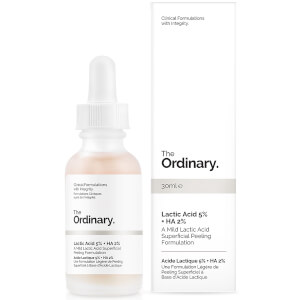 Fórmula exfoliante superficial de ácido láctico 5 % + HA 2 % de The Ordinary 30 ml