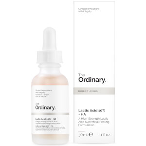 Formulación exfoliante superficial de ácido láctico 10 % + HA 2 % de The Ordinary 30 ml