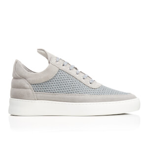 Filling Pieces Men's Fundament Mesh Suede Low Top Trainers - Grey