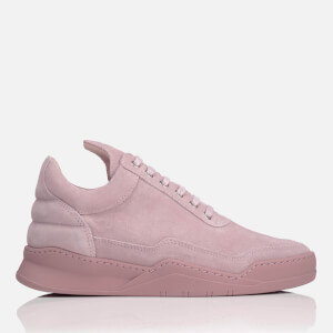 Filling Pieces Women's Ghost Suede Tonal Low Top Trainers - Pink