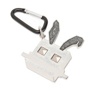 McQ Alexander McQueen Women's Electro Bunny Hex Keyring - Black/White/Glitter