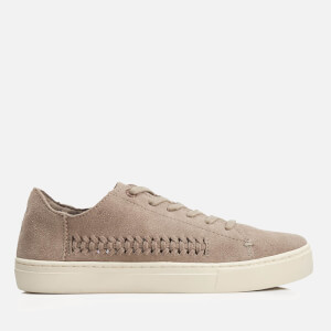 TOMS Women's Lenox Suede Woven Panel Trainers - Taupe Suede/Woven Panel