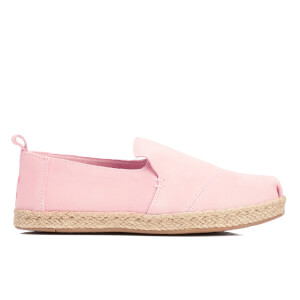 TOMS Women's Deconstructed Suede Alpargata Espadrille Slip-On Pumps - Pale Pink