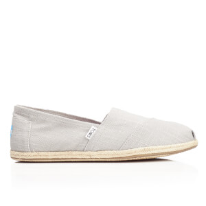 TOMS Men's Seasonal Linen Espadrille Slip-On Pumps - Grey Linen/Rope