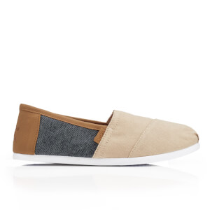TOMS Men's Seasonal Classics Slip-On Pumps - Natural Hemp/Navy Denim