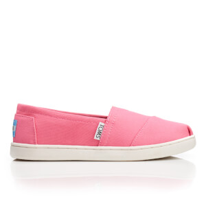 TOMS Kids' Seasonal Classics Slip-On Pumps - Bubblegum Pink Canvas