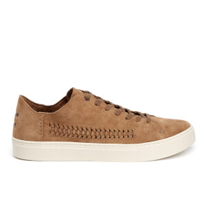 TOMS Men's Lenox Woven Panel Suede Trainers - Toffee Suede/Woven Panel