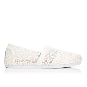 TOMS Women's Seasonal Classic Lace Leaves Slip-On Pumps - White Lace Leaves