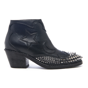 McQ Alexander McQueen Women's Solstice Zip Leather Ankle Boots - Black