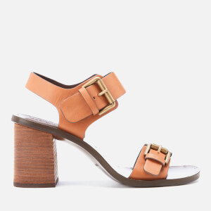 See By Chloé Women's Buckle Leather Heeled Sandals - Malt