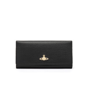 Vivienne Westwood Women's Balmoral Grain Leather Credit Card Purse - Black