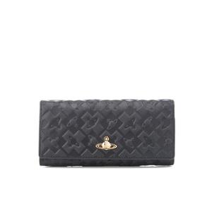 Vivienne Westwood Women's Harrow Embossed Leather Credit Card Purse - Black