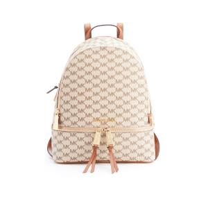 MICHAEL MICHAEL KORS Women's Rhea Zip Logo Backpack - Natural/Luggage